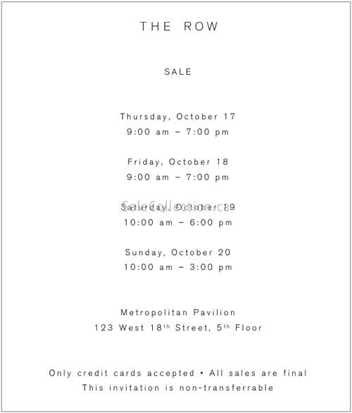 The Row Private Sale 2019
